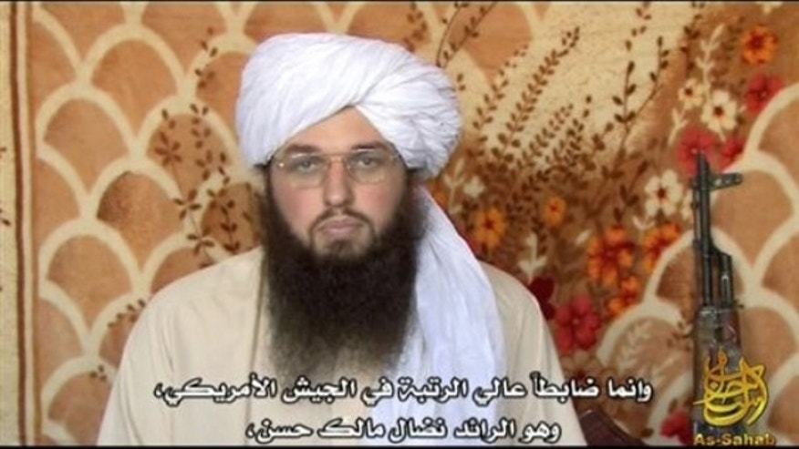 This image from video released by IntelCenter Sunday, March 7, 2010, shows Adam Gadahn, featured in a video posted Sunday, coincidentally the day that his arrest by Pakistani intelligence officers in the southern city of Karachi was announced.  In the video the 31-year-old American al-Qaida spokesman called for Muslim violence, praising the U.S. Army major charged with killing 13 people in Fort Hood, Texas, as a role model for other Muslims.