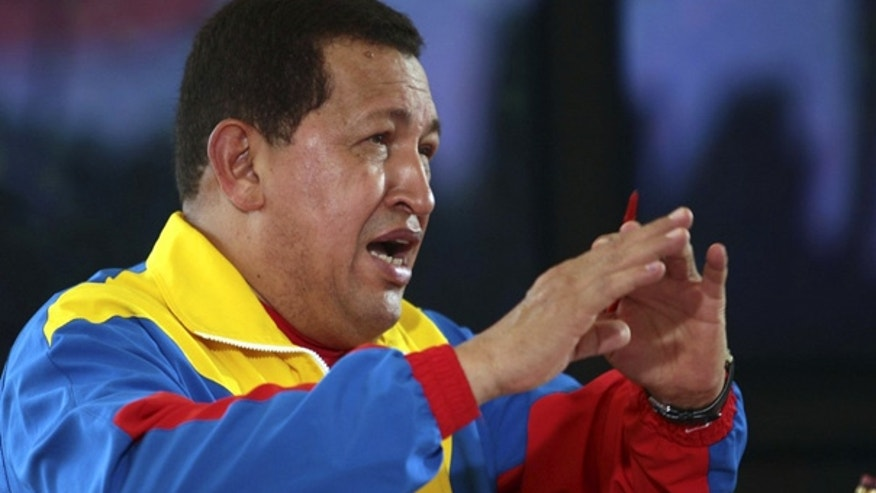 Oct. 3, 2010: Venezuela's President Hugo Chavez talks during his weekly broadcast in Guarico.