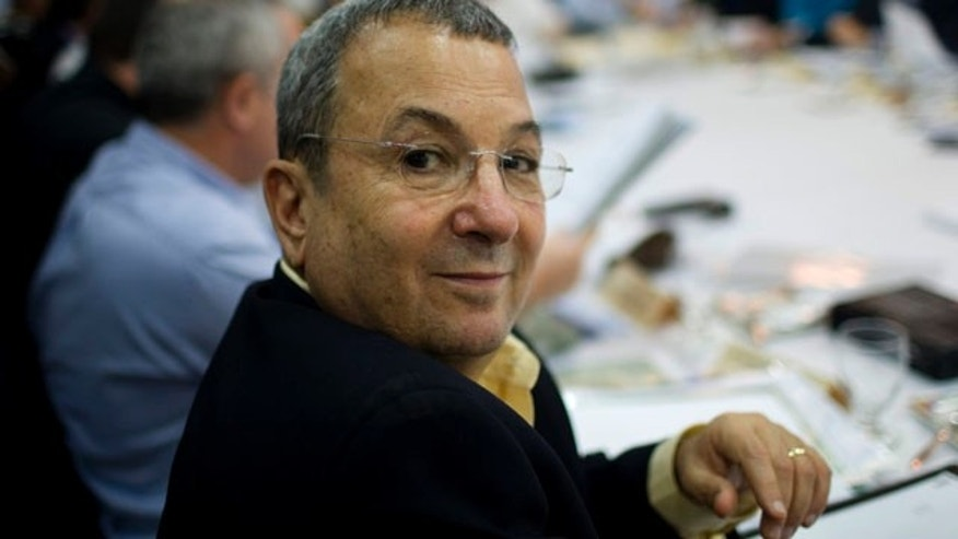Oct. 17, 2010: Israeli Defense Minister Ehud Barak attends a special cabinet meeting in kibbutz Degania Alef in the Jordan Valley, northern Israel.