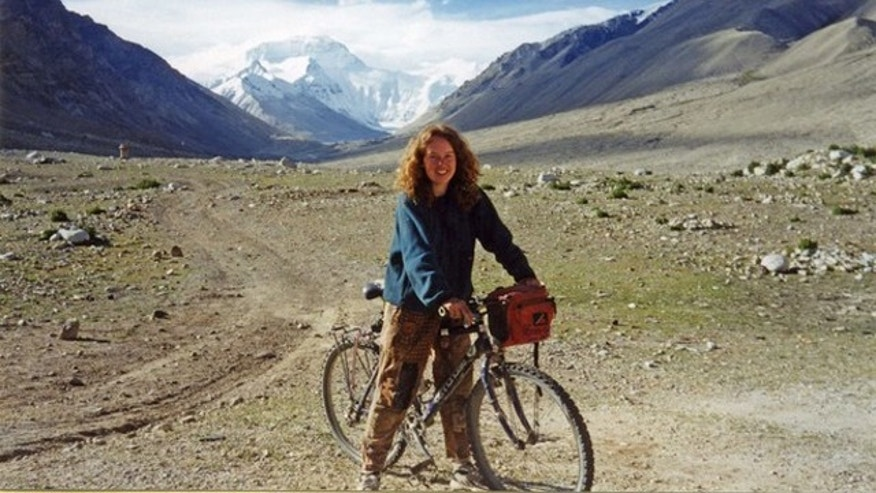 Linda Norgrove was killed recently in a failed rescue attempt in Afghanistan.  She is seen here on her 21st birthday after leaving a base camp on Mount Everest in 1995.