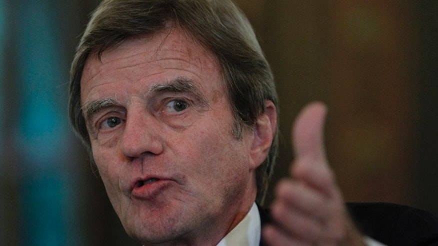 French Foreign Minister Bernard Kouchner speaks during a press conference in Beirut, Lebanon on Nov. 6.