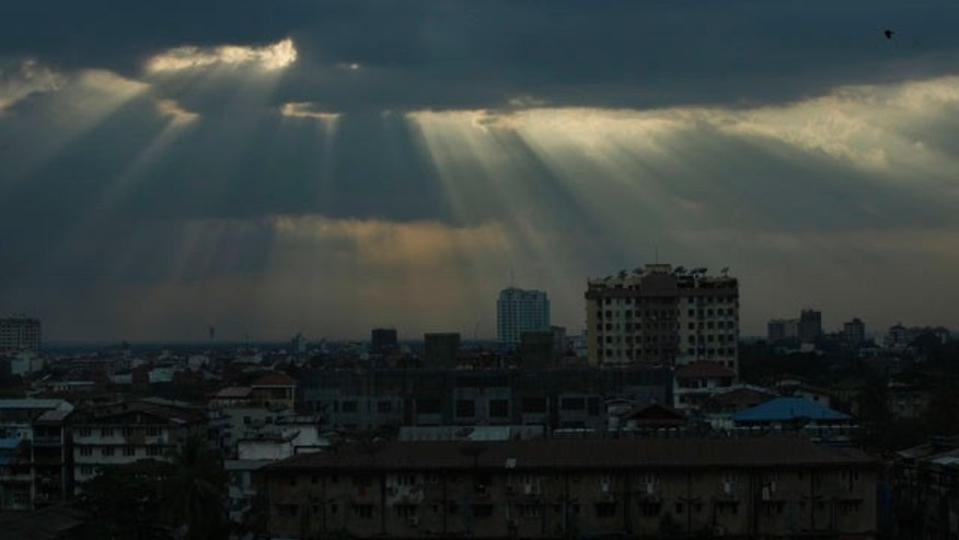 Nov. 16: Clouds loom over Yangon, Burma.