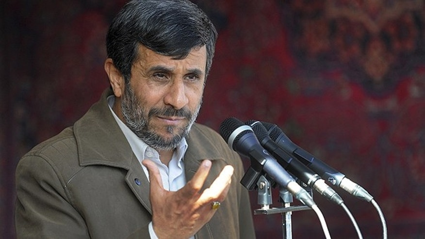 Nov. 3: Iranian President Mahmoud Ahmadinejad delivers a speech in a public gathering at the city of Bojnord, northeastern Iran.