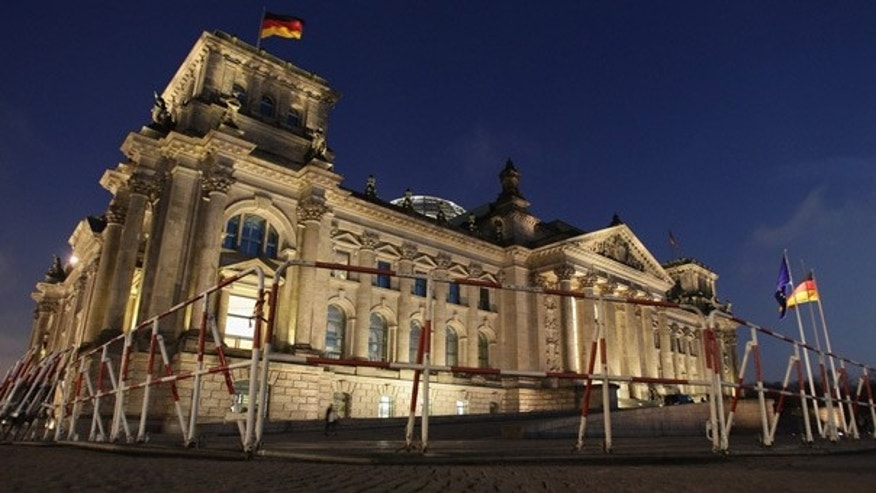 Nov. 21: Security barriers stand in front of the German Reichtstag building, the lower house of parliament, in Berlin.