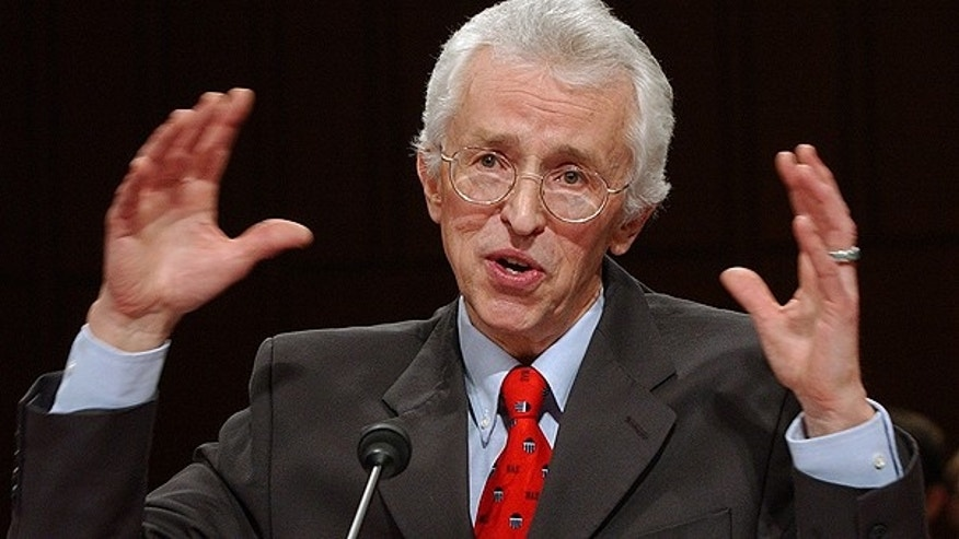 In this Jan. 21, 2004 file photo, Doctor Siegfried Hecker, senior fellow at Los Alamos National Laboratory, briefs the Senate Foreign Relations Committee on Capitol Hill in Washington on his recent inspection of North Korean nuclear facilities.