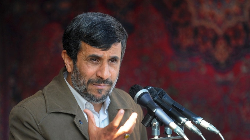 File photo of Iranian President Mahmoud Ahmadinejad delivering a speech in Bojnord, northeastern Iran. Dozens of Iranian lawmakers have signed a petition seeking to summon Ahmadinejad for questioning.