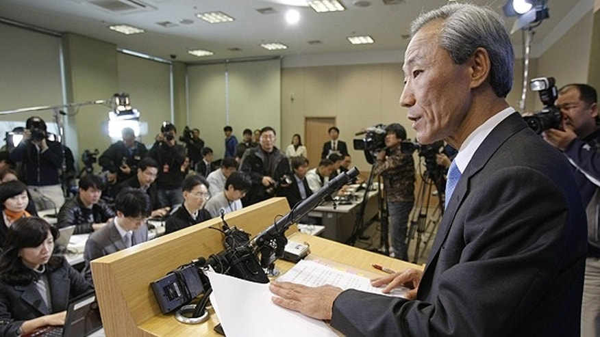 Dec. 5: South Korean Trade Minister Kim Jong-hoon speaks during a press conference at the Foreign Ministry in Seoul, South Korea.