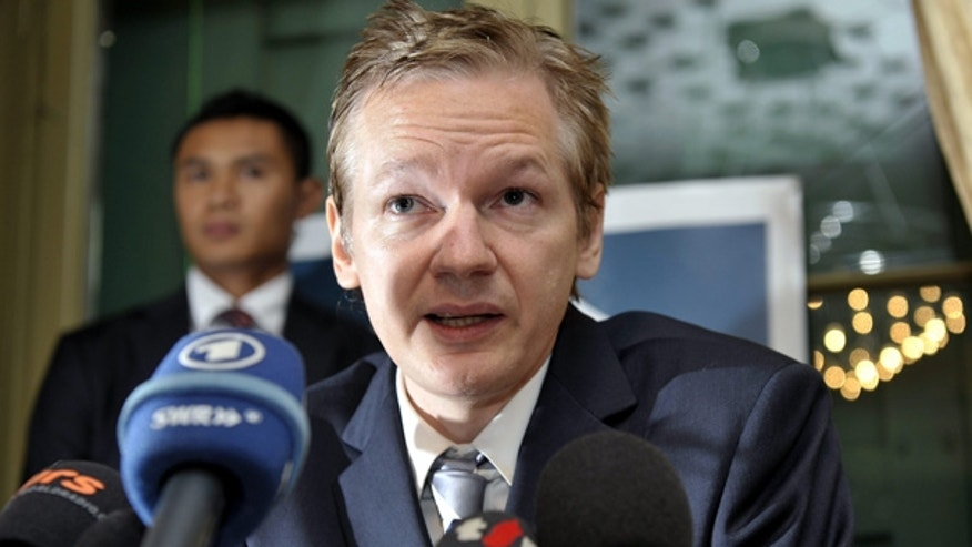 Nov. 4: Wikileaks founder Julian Assange speaks during a press conference in Switzerland.