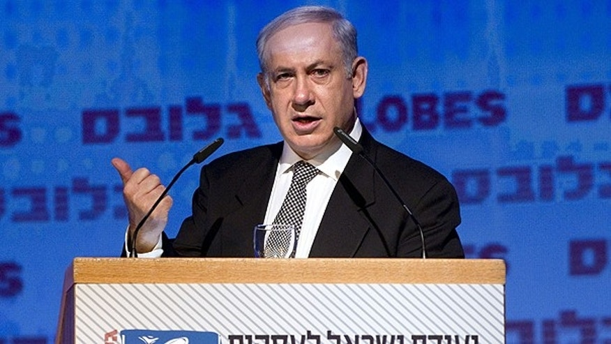 Dec. 13: Israeli Prime Minister Benjamin Netanyahu gestures as he delivers a speech during the 'Israel Business Conference' in Tel Aviv, Israel.