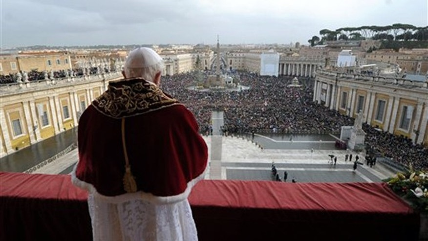 Dec. 25, 2010: Pope Benedict XVI delivers 'Urbi et Orbi' (to the City and to the World) message in St. Peter's square at the Vatican.