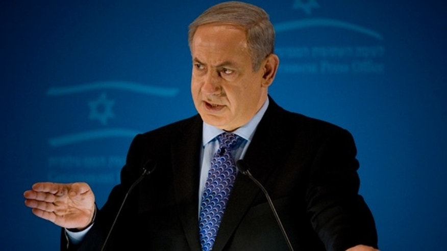 Jan. 11: Israeli Prime Minister Benjamin Netanyahu delivers a statement to members of the foreign press in Jerusalem.