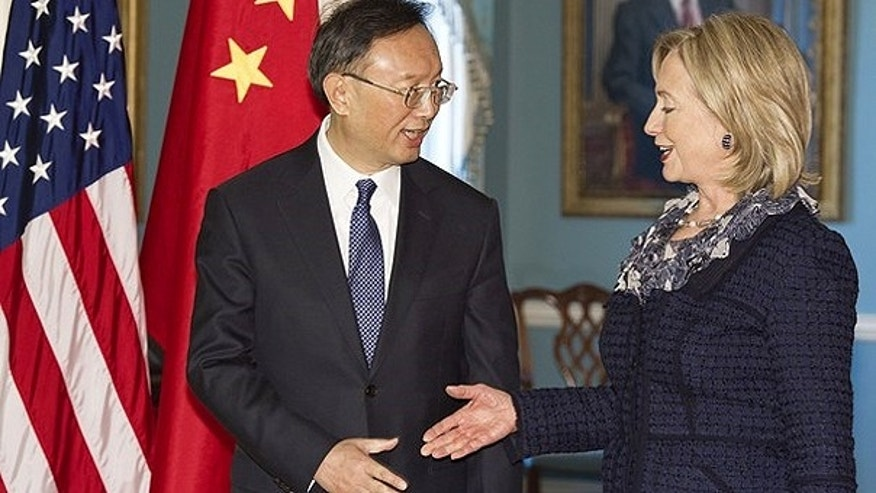 Jan. 5: Chinese Foreign Minister Yang Jiechi and U.S. Secretary of State Hillary Clinton shake hands at the U.S. Department of State in Washington, D.C.