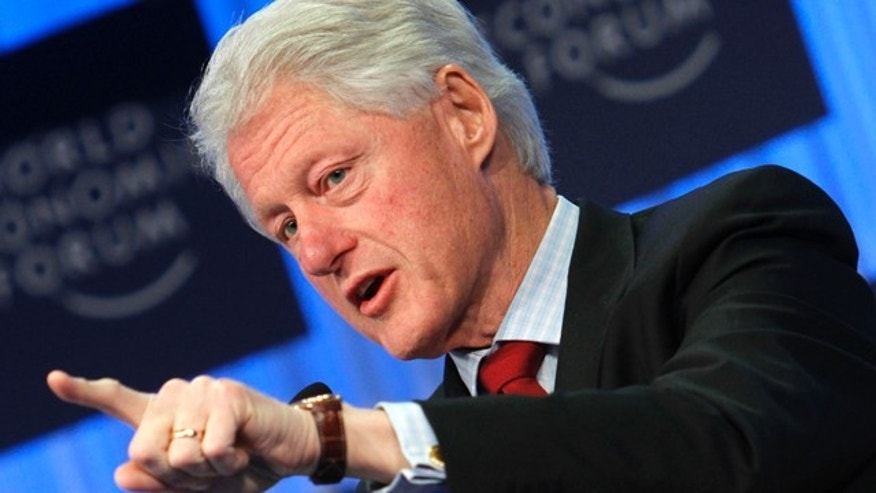 Jan. 27, 2011: Former U.S. President William J. Clinton addresses a session at the World Economic Forum in Davos, Switzerland