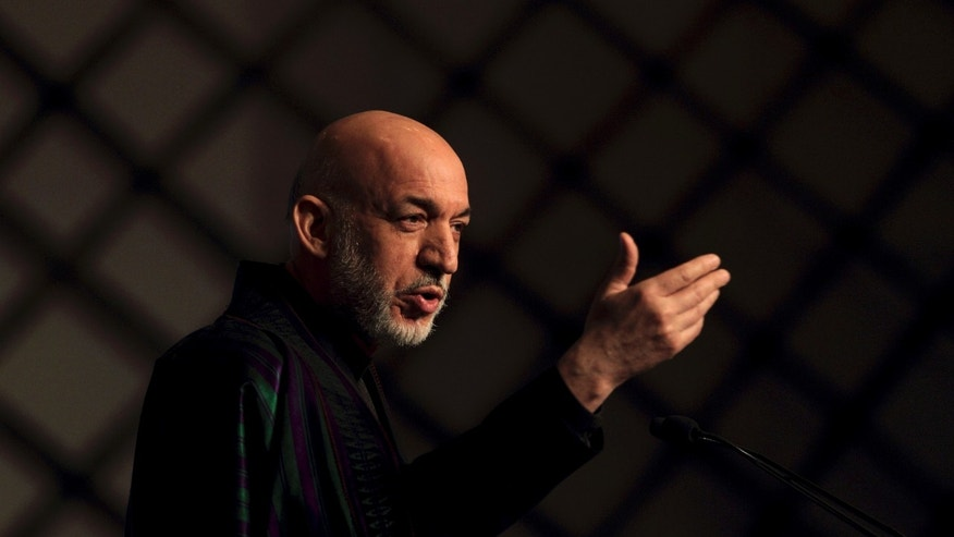 Feb. 3: Afghan President Hamid Karzai speaks during the first day of the 11th Delhi Sustainable Development Summit in New Delhi, India. The summit will last three days.