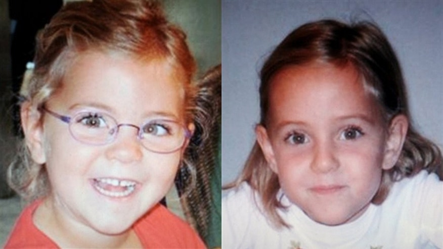 Missing 6-year old twins Alessia, left, and Livia Schepp.