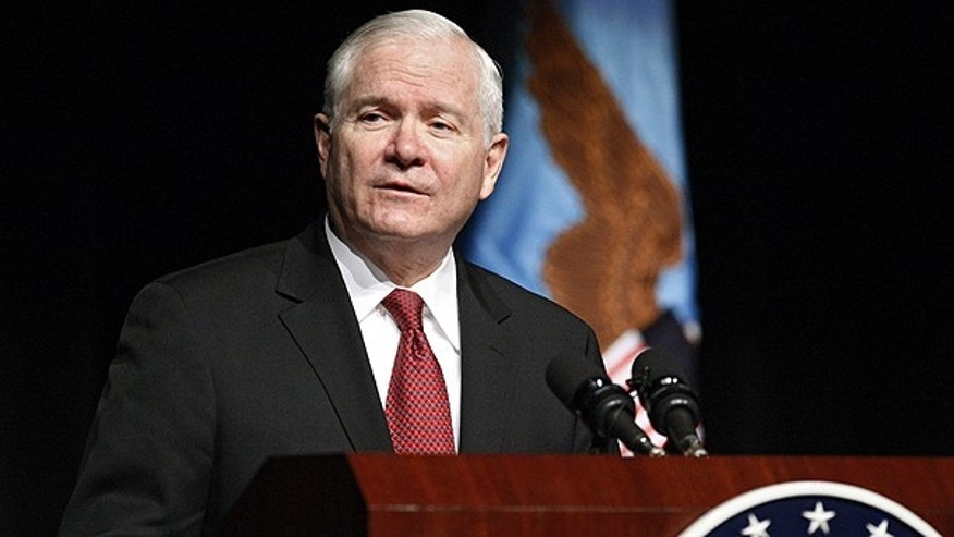 March 4: Secretary of Defense Robert Gates addresses cadets at the Air Force Academy, Colo.
