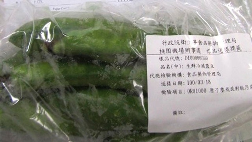 March 20, 2011: In this photo released by the Department of Health, samples of imported Japanese fava beans tainted with radiation is seen in undisclosed place in Taoyuan county, Taiwan.