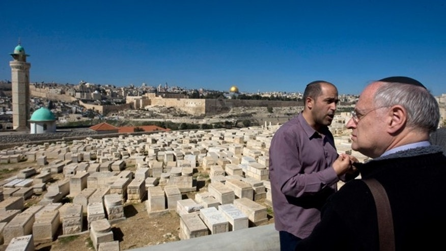 Israeli politicians and American Jewish leaders are demanding the government ramp up protection to ensure the safety of the Jewish cemetery on the mount of olives, shown here in a Feb. 18 photo, where many of the tombstones have been smashed and litter is strewn about the ground.
