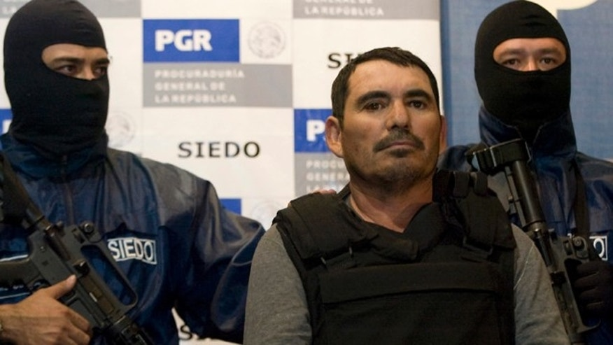 Jan. 25, 2009: Mexican drug suspect Santiago Meza, known as 'El Pozolero,' or 'The Stew Maker, is presented to the media in Mexico City.