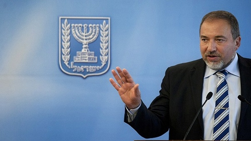 April 4: Israeli Foreign Minister Avigdor Lieberman speaks during a joint press conference with Argentina's Foreign Minister Hector Timerman, not pictured, in Jerusalem.