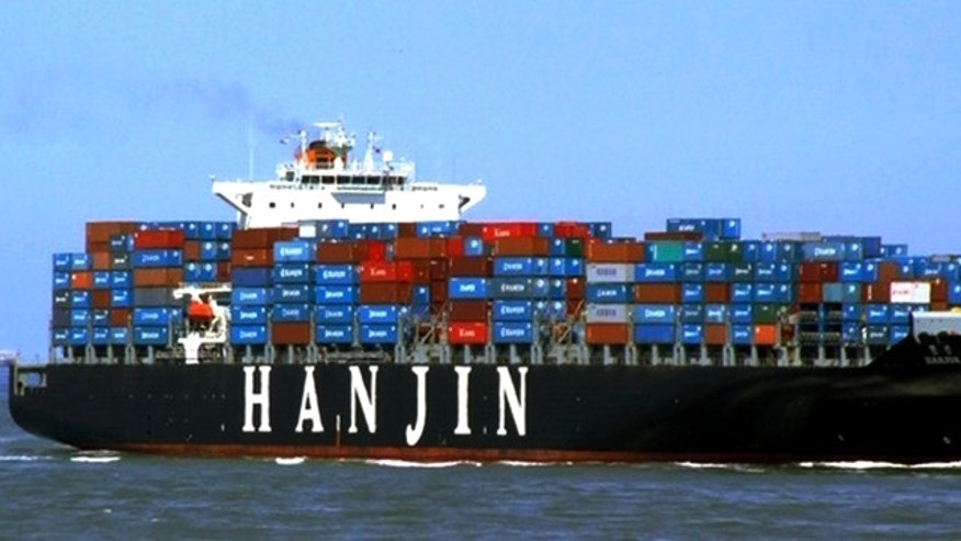 "This undated photo released by Hanjin Shipping Co., shows the container ship ""Hanjin Tianjin"" of South Korea. South Korea said that the ship ""Hanjin Tianjin"" may have been hijacked by pirates in the Indian Ocean. The Ministry of Foreign Affairs and Trade says Hanjin Shipping Co. lost contact with the ship Thursday morning, and the South Korean warship is on its way to the area. (AP)"