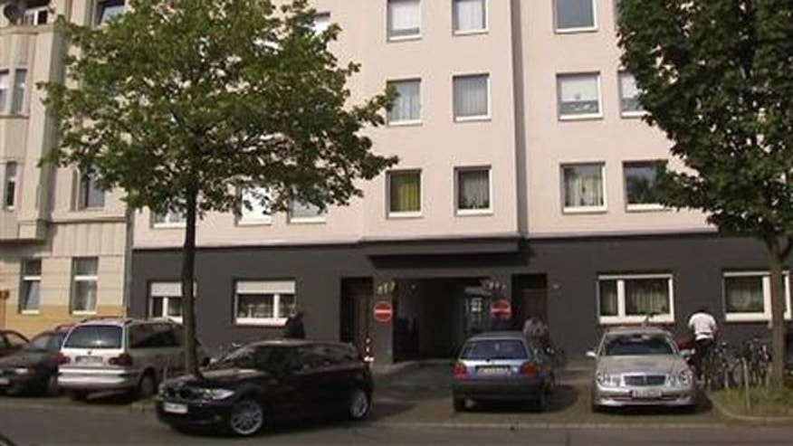 April 29, 2011: A general view of the building where German police arrested three suspected members of Al Qaeda in Duesseldorf.
