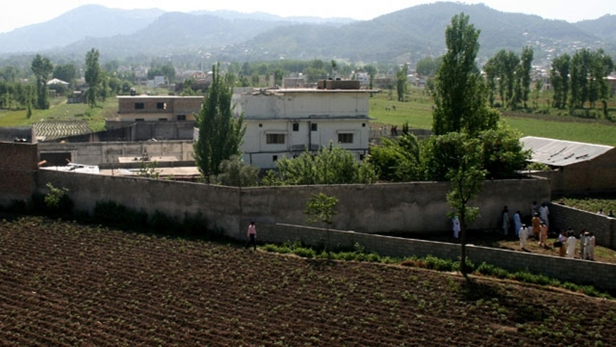 May 3: A view of Usama bin Laden's compound in Abbottabad, Pakistan.