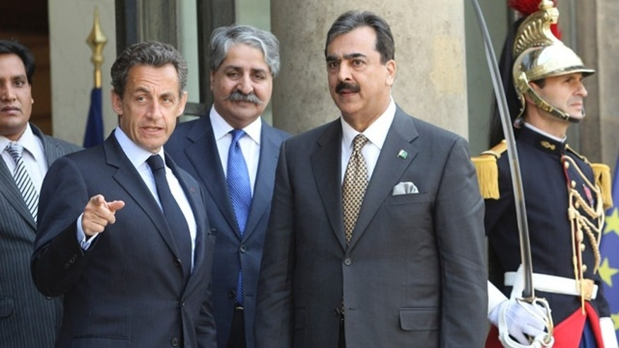 May 4: Pakistani Prime Minister Yousuf Raza Gilani with Nicolas Sarkozy at the Elysee Palace in Paris. Gilani said May 9 that Usama bin Laden's death in an American raid was 'indeed justice done' and insisted the relationship with the U.S. was still strong.