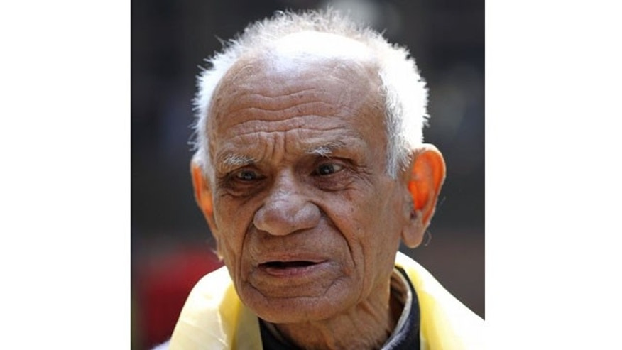 Photo of 82-year-old Shailendra K. Upadhyaya before dying on Mount Everest.