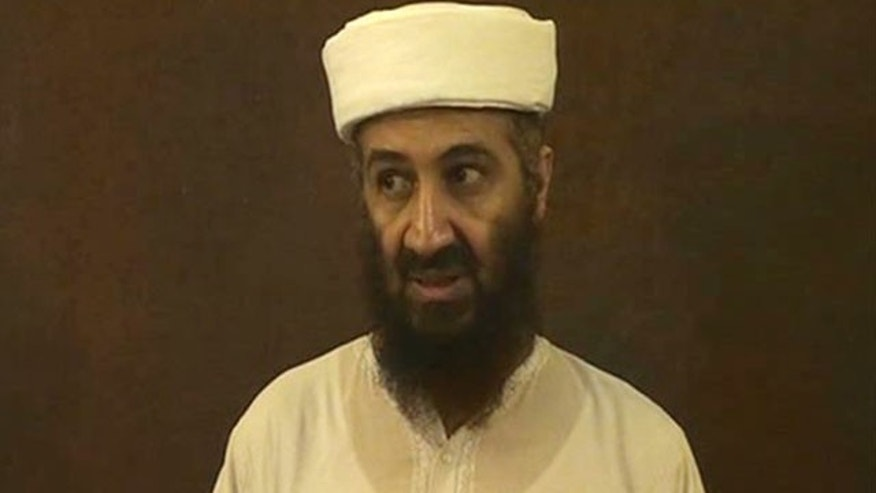 Usama bin Laden speaks in this undated image taken from video provided by the U.S. Department of Defense.