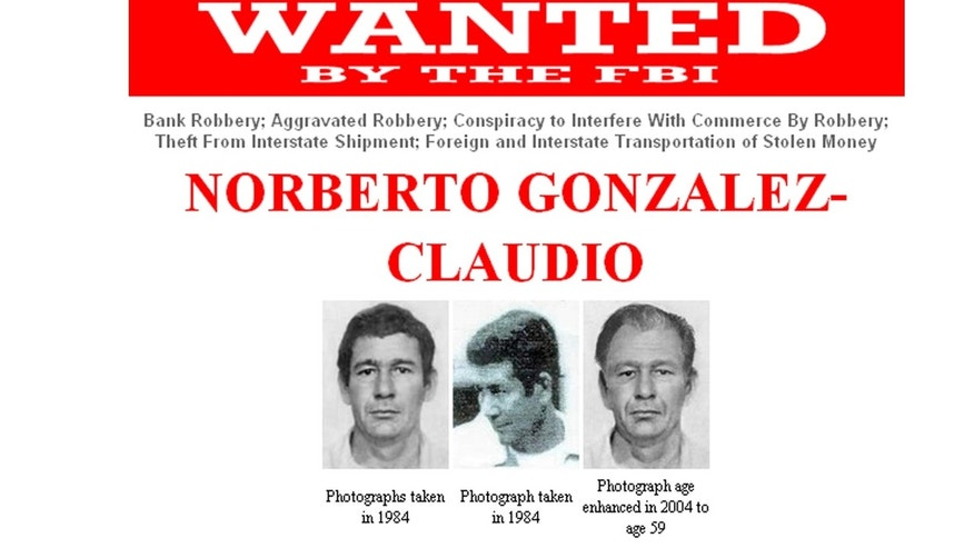 This photo of a computer screen taken in Mexico City, Tuesday, May 10, 2011, shows a page of the Federal Bureau of Investigation, FBI, website that depicts Puerto Rican citizen Norberto Gonzalez Claudio. FBI authorities said they arrested Gonzalez Tuesday in the southern mountain town of Cayey, Puerto Rico. Gonzalez was sought in connection with a 1983 armored truck robbery of about $7 million in Connecticut. (AP Photo/FBI)
