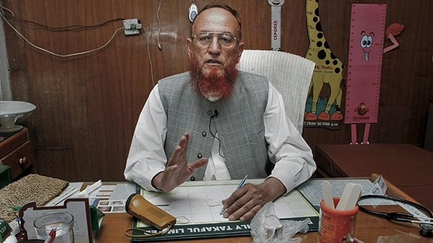 May 31: Pakistani pediatrician Mehar Dil Wazir, who has treated children of two close associates of slain Al Qaeda leader Usama bin Laden, speaks during an interview with The Associated Press at his clinic in Abbottabad, Pakistan.