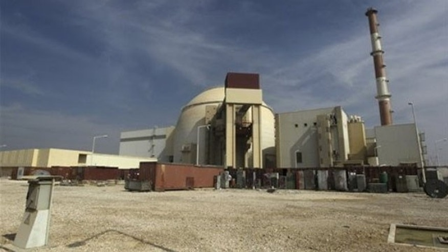 Oct. 26, 2010: The reactor building of the Bushehr nuclear power plant is seen, just outside the southern city of Bushehr, Iran.