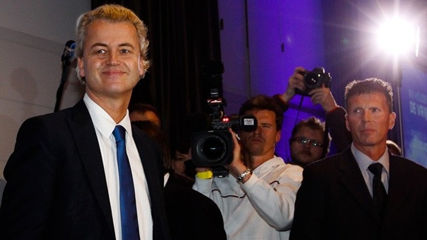 Oct. 2: Controversial Dutch parliamentarian Geert Wilders arrives to give a speech at a hotel in Berlin.