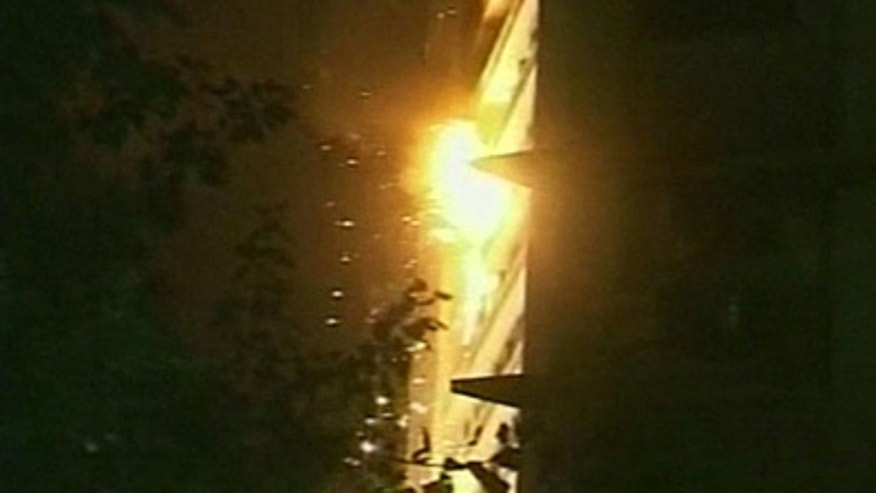 An explosion at Afghanistan's Inter-Continental Hotel.