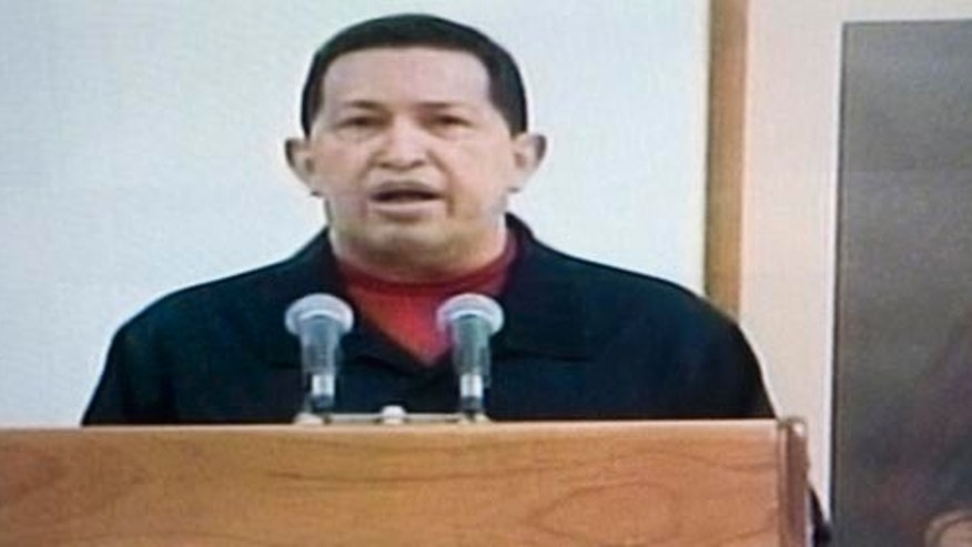 June 30, 2011: In this frame grab taken from Venezolana de Television, VTV, Venezuela's President Hugo Chávez delivers a televised speech aired from Cuba. Chávez said he underwent a second surgery in Cuba that removed a cancerous tumor.