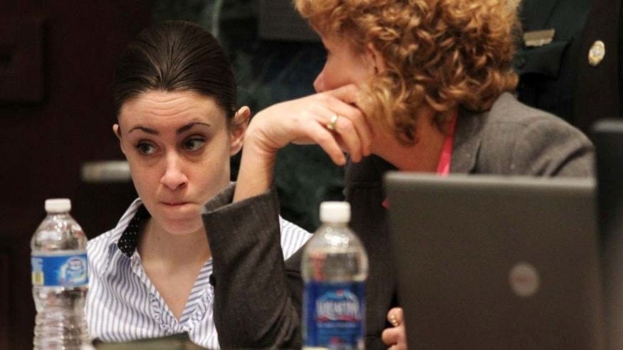 Jul 4: Casey Anthony with her attorney Dorothy Clay Sims on the last day of arguments in Anthony's murder trial at the Orange County Courthouse in Orlando, Fla.