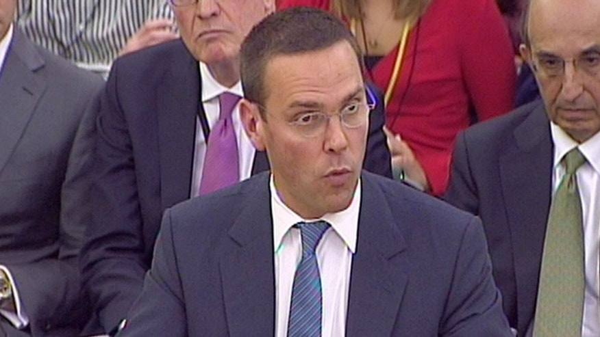 July 19: James Murdoch gives evidence to the Culture, Media and Sport Select Committee on the News of the World phone-hacking scandal in this image taken from TV in Portcullis House in central London.