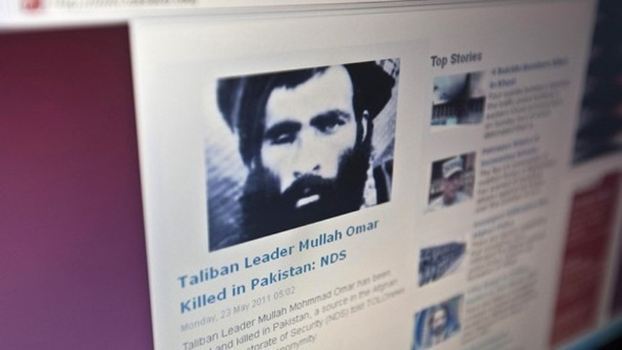 May 23: The Tolonews website runs a story on its front page reporting about news of the death of Taliban leader Mullah Mohammad Omar in Kabul.