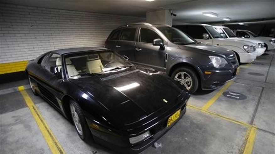 Jun 9: A Ferrari seized by the National Drug Office, or DNE, from a Colombian drug lord, in Bogota, Colombia. Two decades after it was created, Colombia's President Juan Manuel Santos has decided to scrap the DNE because of agency mismanagement.