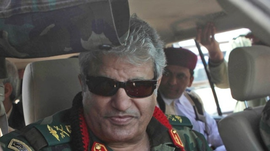 Libyan rebel military leader Abdel-Fattah Younis.