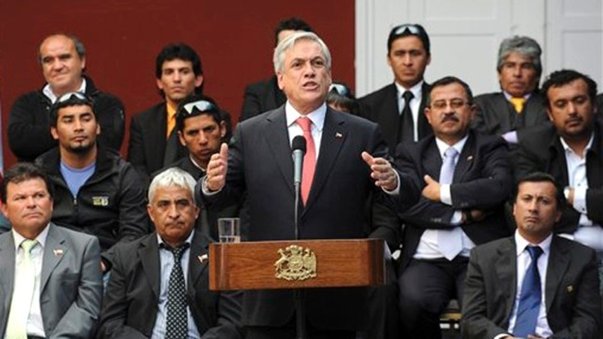 FILE PHOTO Presidente de Chile Sebastían Piñera