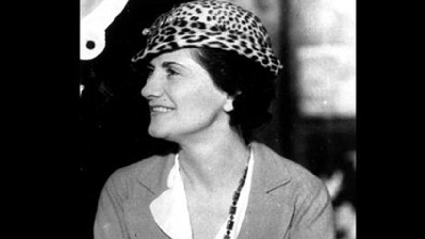 "A headshot of French designer Gabrielle ""Coco"" Chanel, taken in 1934."