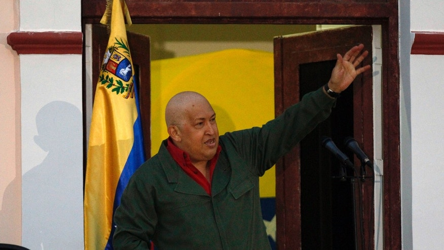 August 22: Venezuela's President Hugo Chavez gestures during a meeting with students at Miraflores presidential palace in Caracas, Venezuela.