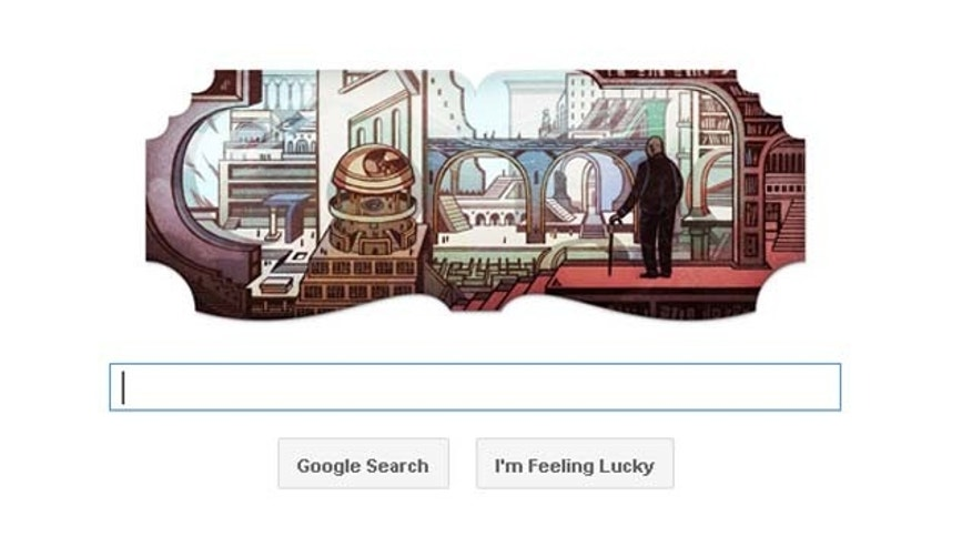 Google's Borges-inspired illustration
