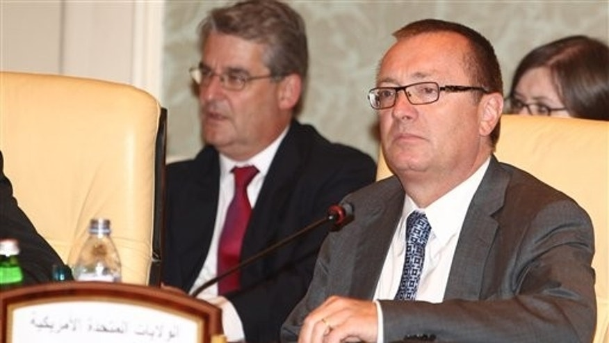 August 24: Jeffrey Feltman, US  Assistant Secretary of State for Near Eastern Affairs, attends a meeting of political directors of the Contact Group on Libya in Doha, Qatar.