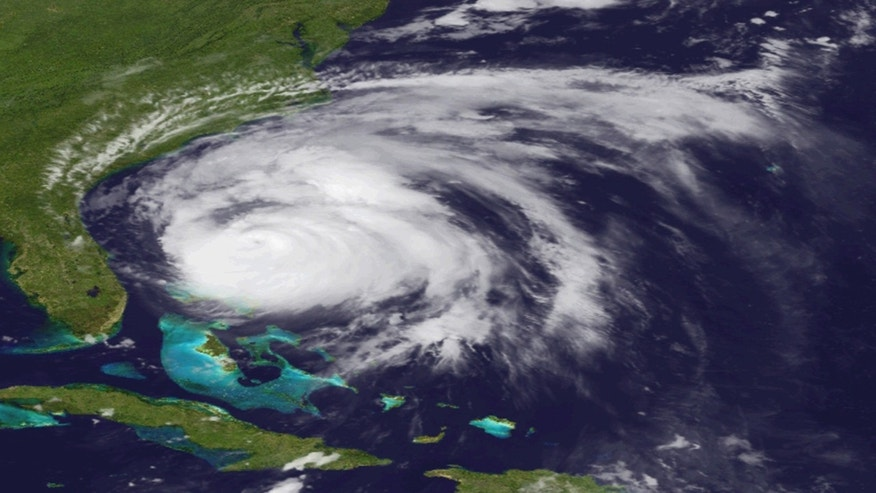 An image provided by NOAA is an Aug. 26, 2011 view of Hurricane Irene made by the GOES-east satellite.  The hurricane is projected to follow a path up the East Coast from North Carolina to Maine and into Canada. (AP Photo/NOAA)