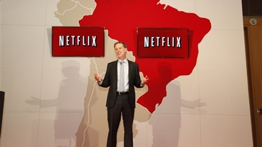 On September 5, 2011 - Reed Hastings, Netflix CEO and Co-Founder Officially Launches Netflix in Sao Paulo, Brazil.  (PRNewsFoto/Netflix, Inc., Arthur Simoes)