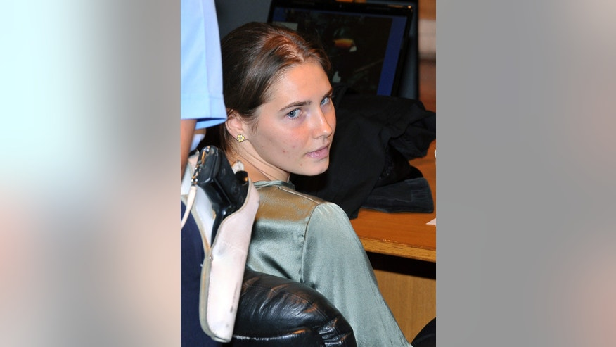Amanda Knox attends an hearing of her appeals case at the Perugia court, Italy, Sept. 6.