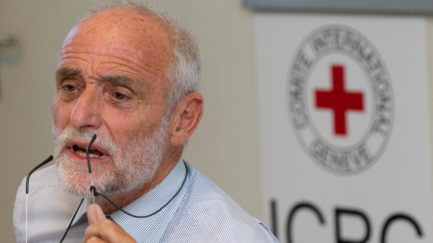 September 6: Jakob Kellenberger, President of the International Committee of the Red Cross (ICRC), talks to the media about his visit to Syria and talks with Syrian president Bashar al-Assad, during a press conference at the ICRC headquarters in Geneva, Switzerland.